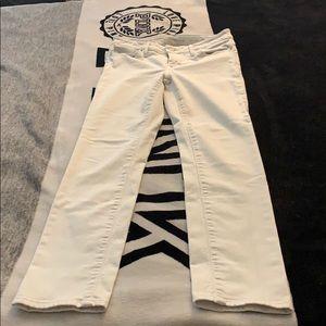 Calvin Klein white skinny jeans